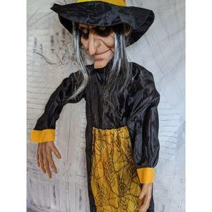 48″ hanging animated witch Halloween prop light so